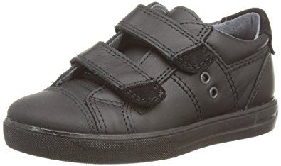 Ricosta JENSON Leather Velcro School Shoes (Black)